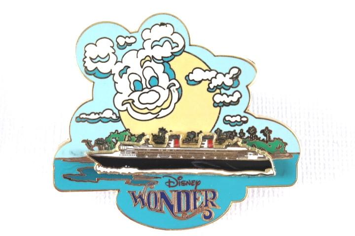 Mickey Cloud over Cruise Ship