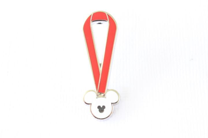 Red Lanyard - Hidden Mickey Disney Pin