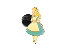 Alice in Wonderland Tiny Pin