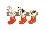 Dalmatians in Christmas Stockings